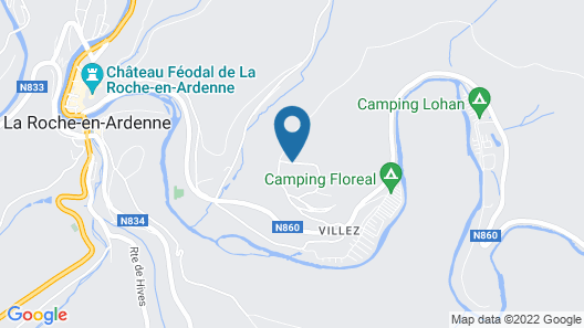 Modern Holiday Home in La Roche-en-ardenne With Garden Map