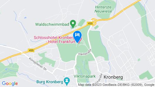Schlosshotel Kronberg - Hotel Frankfurt Map