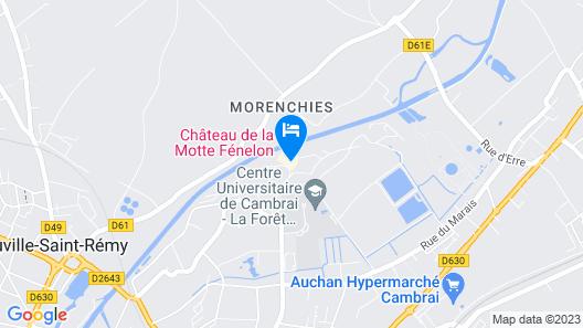 Chateau de La Motte Fénelon Map