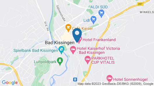 Hotel Frankenland Map