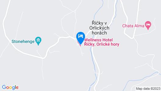 Apartmán Deluxe Říčky v Orlických horách Map
