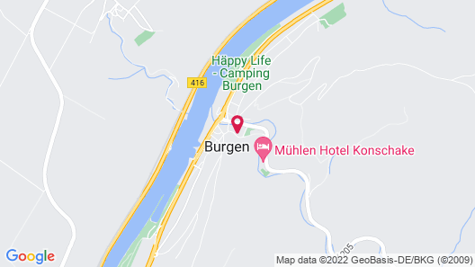 Castles in the Moselle Near Cochem-koblenz, Free Guest Ticket Map