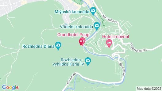 Grandhotel Pupp Map