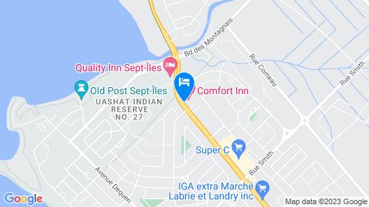 Comfort Inn Sept-Iles Map