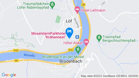 Moselstern-Parkhotel Krähennest Map