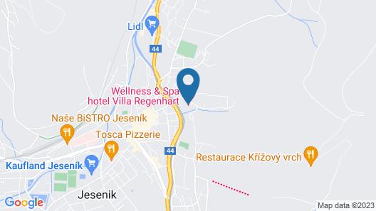 Wellness & Spa hotel Villa Regenhart Map