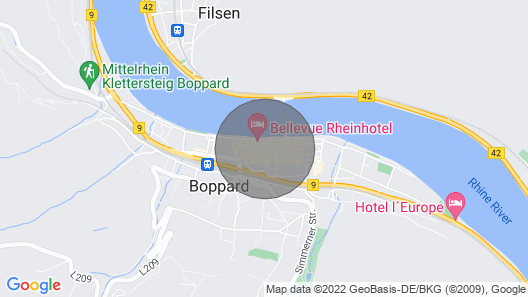 Apartment in the Center of Boppard Map
