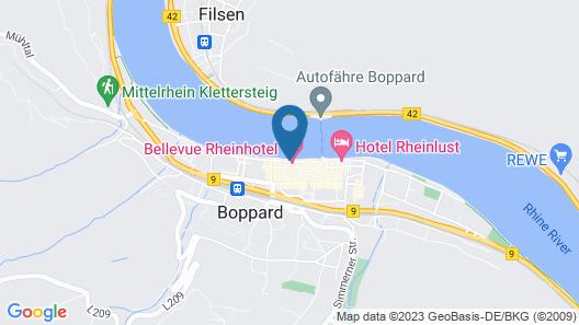 Bellevue Rheinhotel Map
