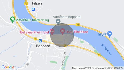 Hotel and Guest House Rheinlust Map
