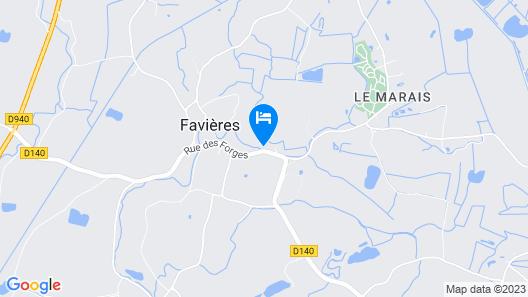 Hôtel Spa & Restaurant Les Saules Map