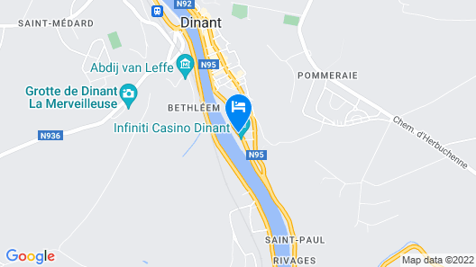 ibis Dinant Centre Map