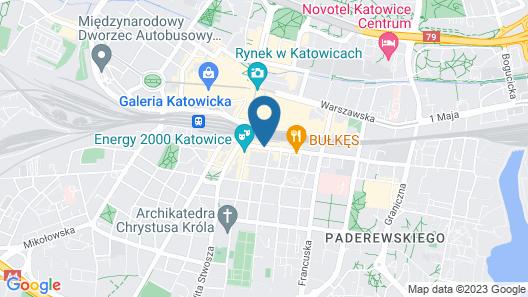 Q Hotel Plus Katowice Map