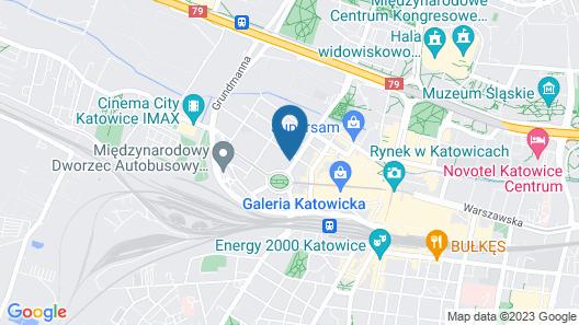 B&B Hotel Katowice Centrum Map