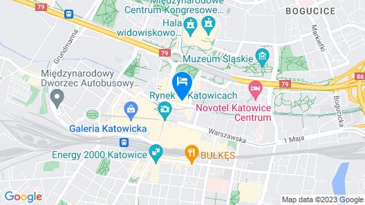 Kato Apartamenty Centrum Map