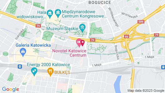 ibis budget Katowice Centrum Map