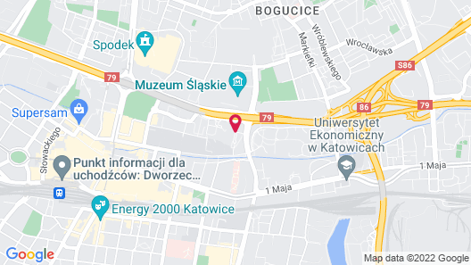 Novotel Katowice Centrum Hotel Map