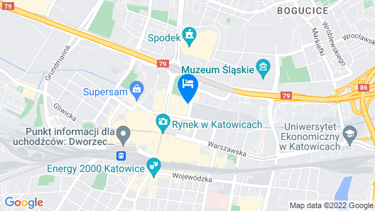 Courtyard by Marriott Katowice City Center Map