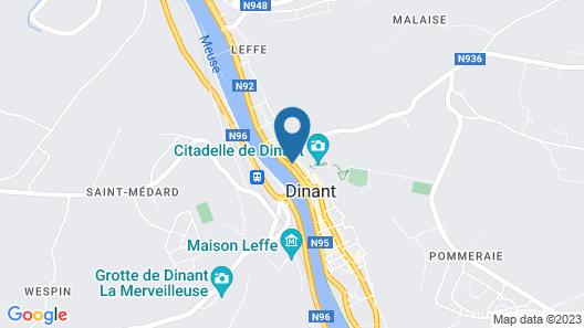 L'Inattendu sur la Croisette Dinant Centre Map