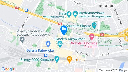Hotel Katowice Map