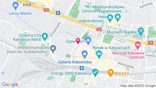 Studio Apartament Centrum Katowice Map