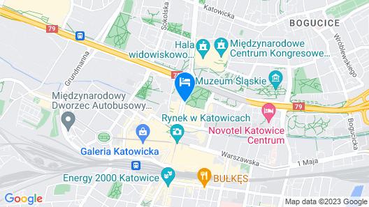 Hotel Katowice Economy Map