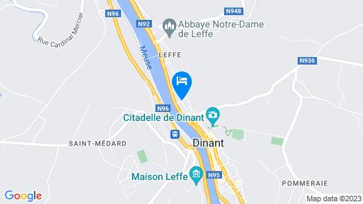 Contemporary Apartment in Dinant Near La Meuse River Map