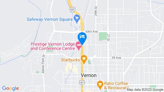 Canadas Best Value Inn & Suites Vernon Map