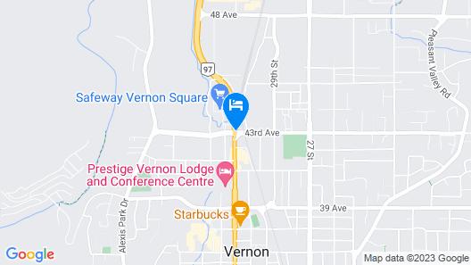 Super 8 by Wyndham Vernon BC Map