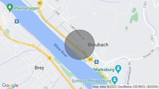 Ko01 Gemütliche 3-zimmerwohnung in Braubach bei Koblenz Map