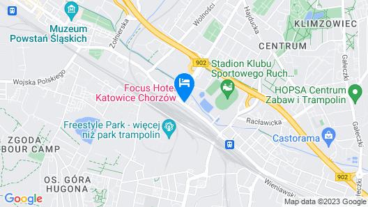 Focus Hotel Katowice Chorzow Map