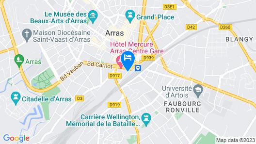 Holiday Inn Express Arras Map