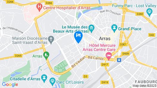 L'hotel Particulier Arras Map