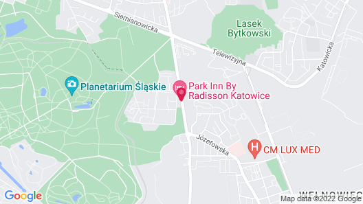 Park Inn by Radisson Katowice Map