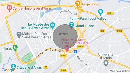 Apartment n ° 1 · Anles Anges Duplex Magic Location Map