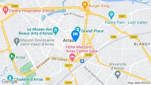 ibis Arras Centre Les Places Map