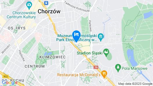 Hotel Diament Arsenal Palace Katowice/Chorzów Map