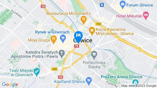 Qubus Hotel Gliwice Map