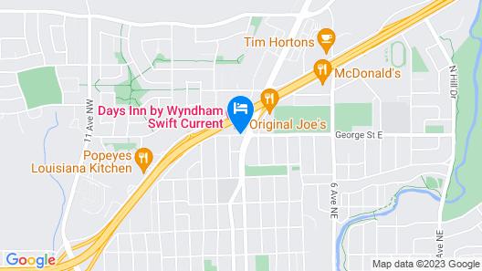 Days Inn by Wyndham Swift Current Map