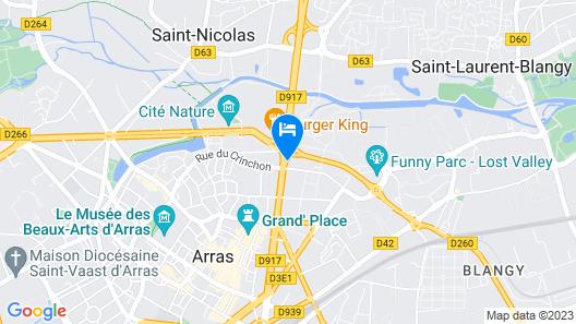 Ibis Styles Arras Centre Map