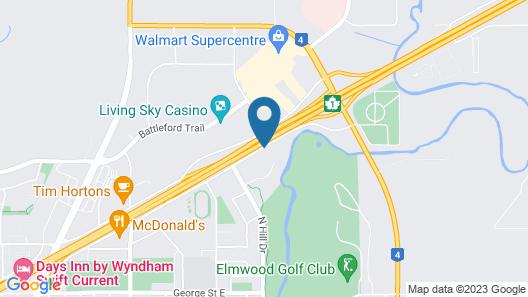 Comfort Inn Swift Current Map