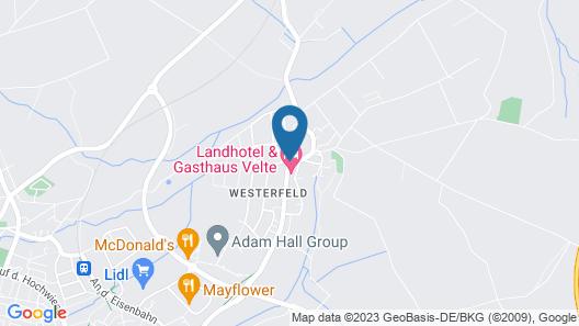 Landhotel Velte Map