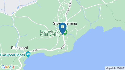 Apartment in Historical Mansion Near the Wonderful Blackpool Sands Beach Map