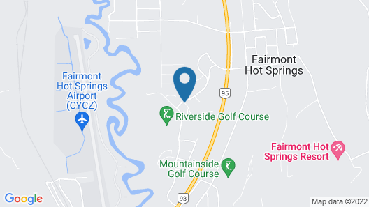 Mountain View Suites at Fairmont Hot Springs Map