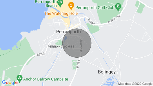 Chy Lowen, Perranporth, Sleeps 6, Offstreet Parking, a Short Walk to the Beach Map