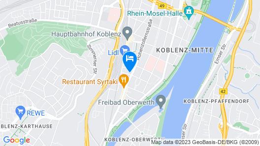 Trip Inn City Hotel Hamm Koblenz Map