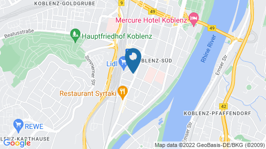 GHOTEL hotel & living Koblenz Map