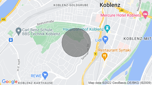 Trendy and Cozy 2-room Apartment Koblenz Kartshaus Map