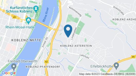 Hotel Restaurant Rheinkrone Koblenz Map