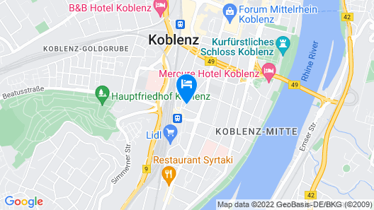 TOP Hotel Hohenstaufen Map
