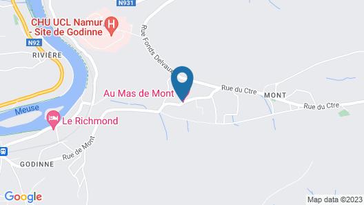 Au Mas de Mont Map